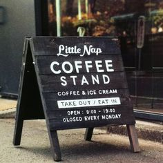 little nap coffee stand - Buscar con Google