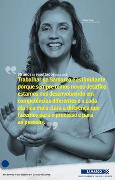 36 anos de resultados para você. Cartaz campanha interna 36 anos Samarco.