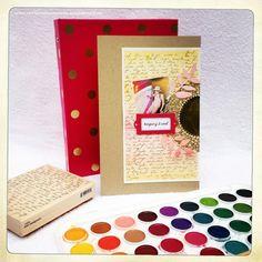 alexandra's Sunday scrapbooking - Watercoloring over Stamping