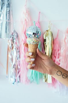 Disco ball ice cream
