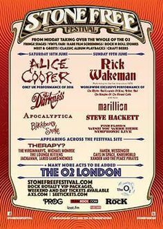 C'è anche Steve Hackett nel ricco cast dello Stone Free Festival, che si terrà all'O2 di Londra sabato 18 e domenica 19 giugno 2016. LEGGI TUTTO: http://ow.ly/10vSVK