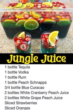 11 Easy Punch Recipes For a Crowd – Simple Party Drinks Ideas (both NonAlcoholic and With Alcohol) – Clever DIY Ideas Jungle Juice Punch Recipe. Jungle Juice Punch Recipe, Simple Party Punch Recipe, Punch Recipe For A Crowd, Easy Punch Recipes, Food For A Crowd, Fruit Punch, Jungle Juice Recipes, Easy Jungle Juice, Recipes For A Crowd