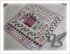 *Jenny Beans Christmas Sampler*   dessiné par/designed by  Theresa Venette - Shakespeares Peddler