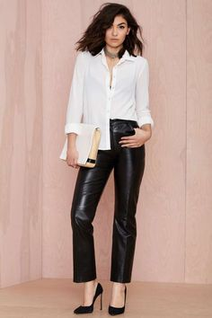 Vintage Franchesca Leather Trousers
