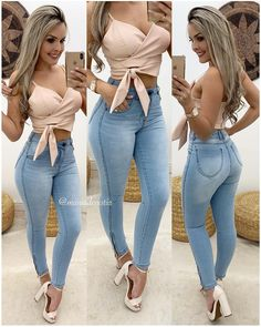 Swans Style is the top online fashion store for women. Shop sexy club dresses, jeans, shoes, bodysuits, skirts and more. Classy Outfits, Sexy Outfits, Chic Outfits, Spring Outfits, Trendy Outfits, Fashion Outfits, Denim Fashion, Look Fashion, Girl Fashion