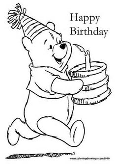 Birthday coloring pages.Happy birthday fun coloring pages