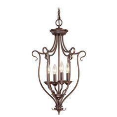 Coronado Bronze Four-Light Lantern Pendant