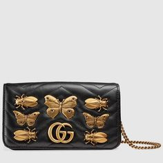 da9aac5e55 GG Marmont animals studs mini bag - Gucci Women s Shoulder Bags  488426D8GZT1000 Studded Bag