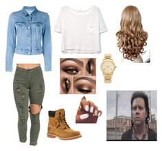 Eugene's Queen /The Walking Dead By: Kelsey C. by kelseyclark70 on Polyvore featuring polyvore, fashion, style, MANGO, Acne Studios, Timberland, Michael Kors and clothing