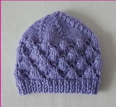 Knitting Patterns Online - Knitting Patterns for Beanies - Libby
