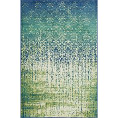 Skye Monet Blue Cascade Rug (7'7 x 10'5) | Overstock.com Shopping - Great Deals on Alexander Home 7x9 - 10x14 Rugs