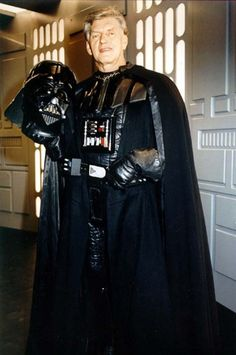 Much of the menace of Darth Vader is owed to the hulking prowess of actor David Prowse, the man behind the black mask in the best three Star Wars films. Shown here as headline guest at the Fan Expo, Vancouver's version of Comicon, on April 20 and 21, 2013.