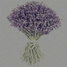 Lavender cross stitch embroidery