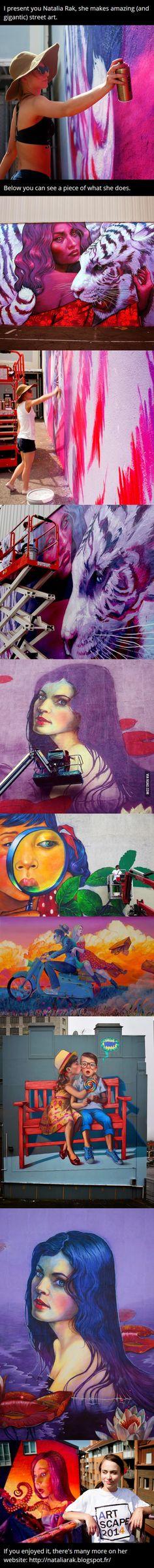 Natalia Rak, she makes street art - 9GAG