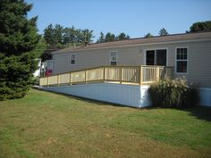 Mobile home porch designs with ramp rcrv designer is for Handicap accessible mobile homes