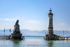 Port of Lindau by Amy Sorvillo Lindau im Bodensee is a lovely island town on the eastern side of Lake Constance in Germany.