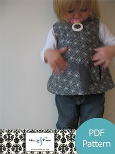 Heidi And Finn : Sweet Pocket Pinafore 12M-4T (to buy)