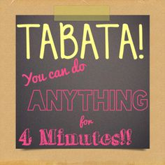 Tabata is one of my favorite ways to burn fat FAST!  #tabata #workouts