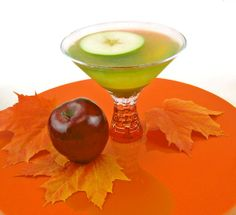 Caramel Apple Martini - apple juice, Van Gogh Wild Apple Vodka, Van Gogh Dutch Caramel Vodka, Apple Schnapps