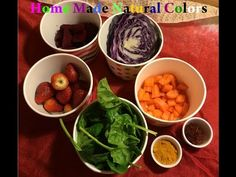 How to Make Natural Food Coloring - Concentrated Color Recipe - YouTube