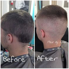 Men's military high and tight haircut fade