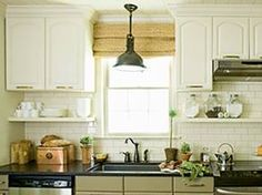 "Kitchen Cabinets Up To Ceiling 36"" upper cabinets with 6"" stacked molding, 8-foot ceilings"