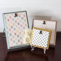Easy DIY wood plaque memo boards and photo frames.