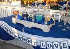 Blue Candy Buffet | was so excited about the fun candy buffet! And it was all