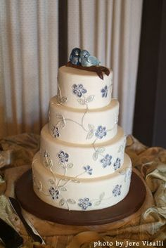 Don't like these birds, but the cake is pretty.