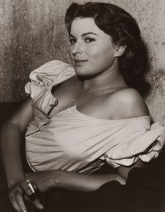 Italian actress Silvana Mangano, 1951