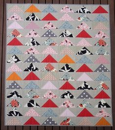 The Modern Flying Geese Quilt Pattern PDF file von redpepperquilts