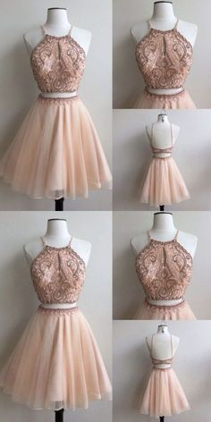 Two Piece Homecoming Dress,Pink Prom Dresses, Beading Short Party · PromMode · Online Store Powered by Storenvy Two Piece Homecoming Dress, Prom Dresses Two Piece, Cheap Homecoming Dresses, Cute Prom Dresses, Pretty Dresses, Beautiful Dresses, Pink Dresses, Short Party Dresses, Junior Prom Dresses Short