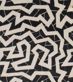 'Spinne' textile design by Dagobert Peche, produced by the Wiener Werkstätte in the Geometric Patterns, Textile Patterns, Textile Prints, Abstract Pattern, Print Patterns, Textiles, Fabric Design, Pattern Design, Illustration