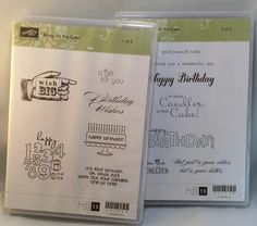 Bring on The Cake by Stampin Up by catscardsandcoffee on Etsy