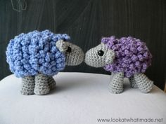 Instructiosn en anglais + photos / Shorn the Crochet Sheep - Free Amigurumi Pattern (english). Crochet Sheep Free Pattern, Crochet Animal Patterns, Stuffed Animal Patterns, Crochet Animals, Free Crochet, Knitting Patterns, Easter Crochet, Crochet Crafts, Crochet Yarn
