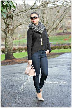 Stitch Fix December 2015 Review #stitchfix - LOVE these jeans Just Black