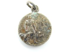 Vintage Saint Hubert - Saint Benedict Catholic Medal - Rare Religious Charm - Patron St of Hunting - Hunting Luck Charm - R32 by LuxMeaChristus on Etsy