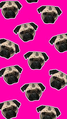 Pugs ★ Find more Funky Patterns for your #iPhone + #Android @prettywallpaper