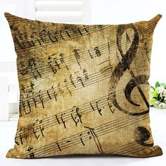 If you are a music lover, then these beautiful pillowcases will be a wonderful gift for you. Or maybe you're thinking to your cool musician friend. Features: - 100% brand new - Size: about 45*45 cm / 17.7*17.7 in - Fabric: cotton, linen and polyester - Closure: hidden zipper - Pillowcase only, pillow is not included - Please allow a deviation of approx. 1-2 cm as all products are handmade - Slight color differences may arise between real items and photos due to lighting and display settings…