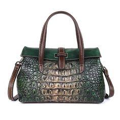 Free shopping  Handbag Patterns, Types Of Bag, Leather Bags Handmade, Luxury Handbags, Designer Handbags, Cow Leather, Cross Body Handbags, Crocodile, Leather Handbags