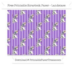 Free Amethyst Striped Large Olaf Pattern Paper - Frozen