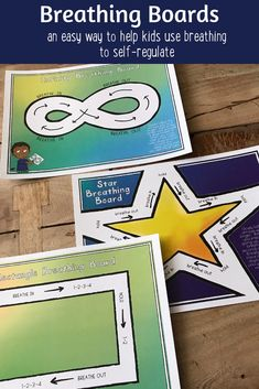 Breathing Boards Included in Calm Down Corner Toolbox More and more we are learning about the vital importance of cultivating trauma sensitive classrooms and schools. Kids need to feel safe, cared for and seen before they are ready to learn and get along Mindfulness For Kids, Mindfulness Activities, Mindfulness Therapy, Emotional Regulation, Self Regulation, Zones Of Regulation, Counseling Activities, Therapy Activities, Calming Activities
