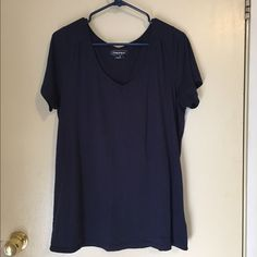 Maurice's navy v-neck short sleeve shirt Maurice's brand navy v-neck tee.  Worn a handful of times.  Excellent condition. Maurices Tops