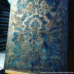 Damask Wall Stencils, Large Wall Stencil, Stencil Diy, Stencil Painting, Wall Stenciling, Stencil Designs For Walls, Faux Painting, Diy Tapete, Plaster Art