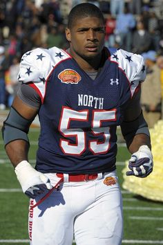 Michael Sam, football prodigy and gay male. | He was drafted in the 7th round by the St. Louis Rams. (DB)