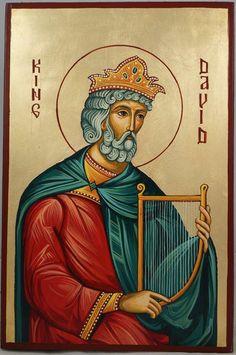 Prophet King David Hand-Painted Orthodox Icon