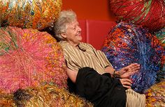 Sheila Hicks - she gives using textiles a whole new meaning!