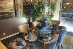 """The beautiful centerpiece from the last table setting design from Toll Brothers' """"The Perfect Setting"""" event."""
