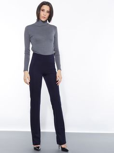 Boot cut leggings with elastic waist