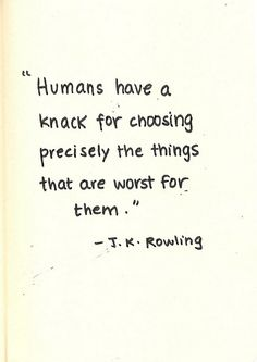 oh J.K. Rowling, you know me all too well.